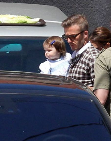 David Beckham - David and Harper Beckham Celebrates Victoria's Birthday