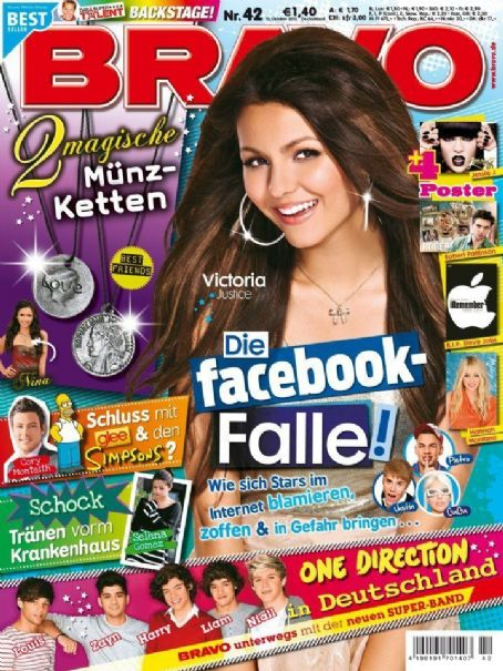 Victoria Justice - Bravo Magazine Cover [Germany] (12 October 2011)
