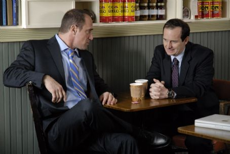 Christopher Meloni as R/Subject #3 and Denis O'Hare as A/Subject #3 in BRIEF INTERVIEWS WITH HIDEOUS MEN directed by John Krasinski. Photo credit: Jojo Whilden. An IFC Films release