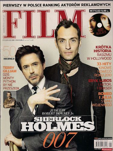 Robert Downey Jr., Jude Law - Film Magazine Cover [Poland] (January 2010)