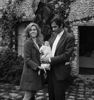 Vanessa Vadim Jane Fonda with husband Roger Vadim and daughter Vanessa