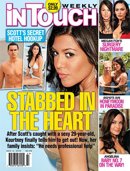 Kourtney Kardashian, Angelina Jolie, Megan Fox - In Touch Weekly Magazine Cover [United States] (5 July 2010)