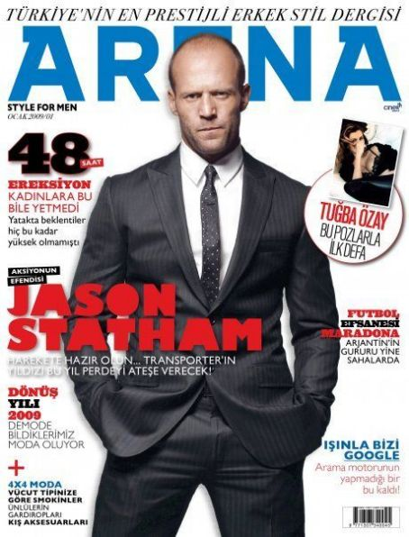 Jason Statham - Arena Magazine Cover [Turkey] (January 2009)