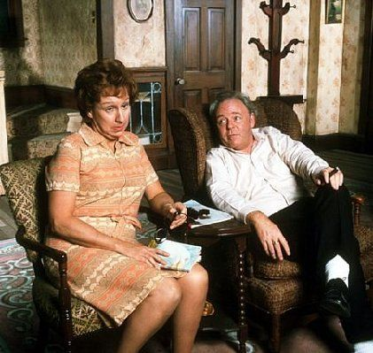 All in the Family Carroll O'Connor and Jean Stapleton