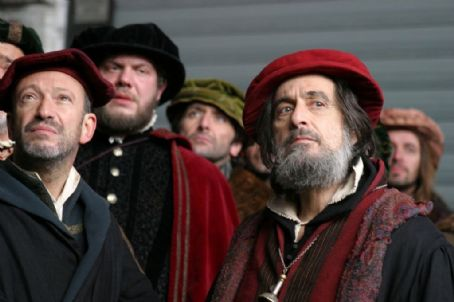 Allan Corduner  as Tubal (left) and Al Pacino as Shylock