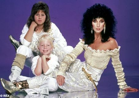 Elijah Allman CHER & Children Chastity Bono & Elijah Blue Allman Bono Get Dressed For 2nd People Magazine Shoot 1-25-82