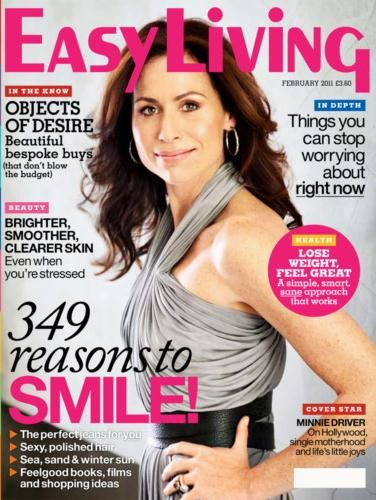 Minnie Driver - Easy Living Magazine Cover [United Kingdom] (February 2011)