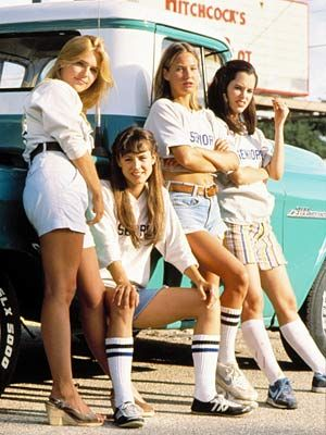Michelle Burke Deena Martin, , Joey Lauren Adams And Parker Posey In Dazed And Confused (1992).