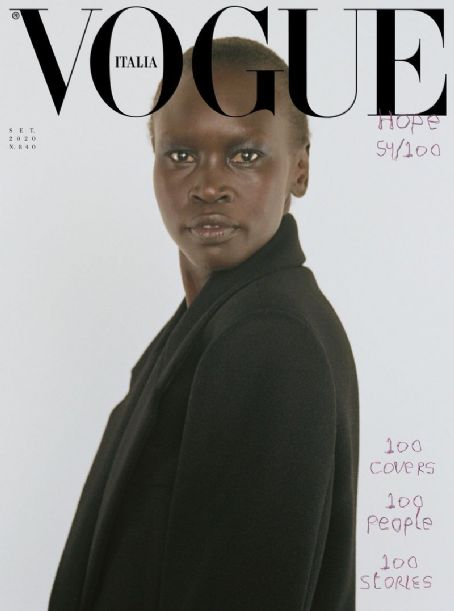 Alek Wek - Vogue Magazine Cover [Italy] (September 2020)