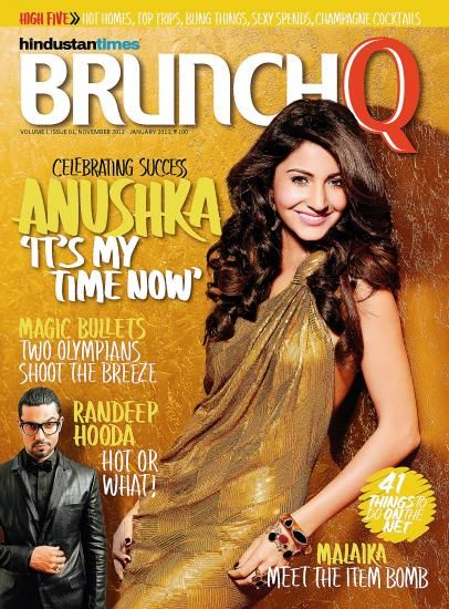 Anushka Sharma - Brunch Q Magazine Cover [India] (November 2012)