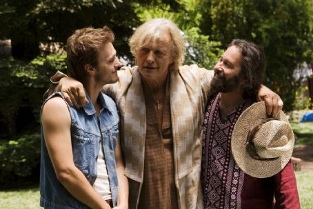 Happiness Runs Sam (Paul McCarthy-Boyington), Insley (Rutger Hauer) and Peter (Jon Kellam) in the scene of drama ''