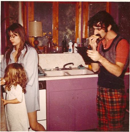Gail Zappa Together with one of their kids