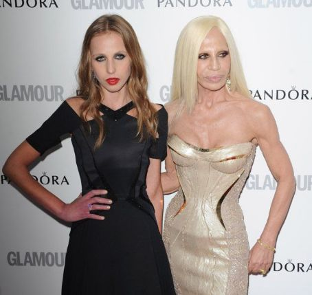 Donatella Versace Allegra Versace and  attend Glamour Women of the Year Awards 2012 at Berkeley Square Gardens on May 29, 2012 in London, England