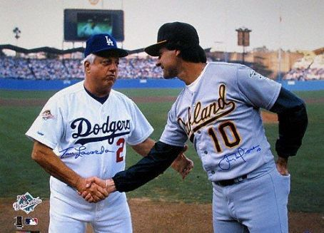 Tommy Lasorda  & Tony LaRussa