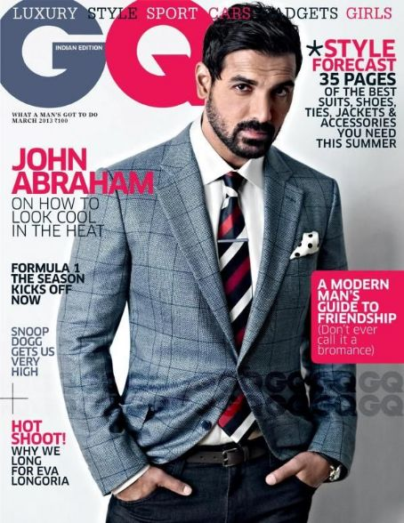 John Abraham GQ India March 2013