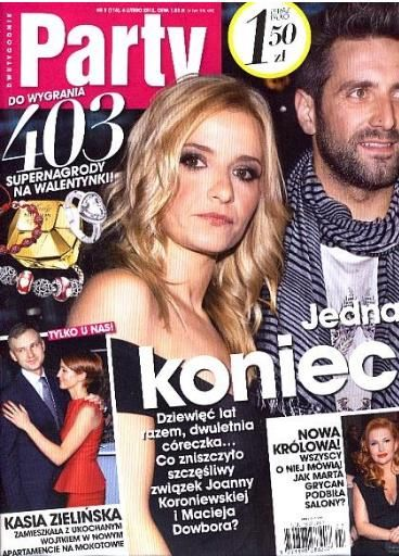 Joanna Koroniewska, Maciej Dowbor - Party Magazine Cover [Poland] (6 February 2012)