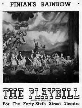 Finian's Rainbow 1947 playbill for