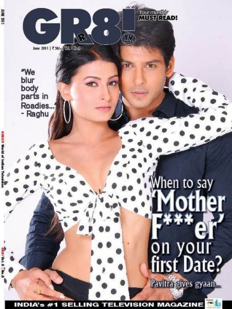 Siddharth Shukla, Pavitra Punia - Gr8! TV Magazine Cover [India] (June 2011)