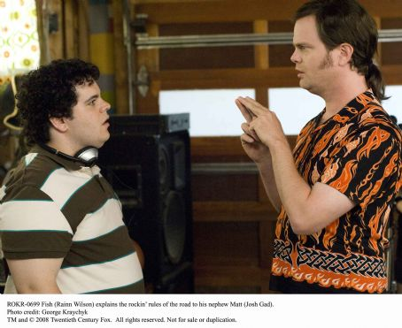 Josh Gad Fish (Rainn Wilson) explains the rockin' rules of the road to his nephew Matt (). Photo credit: George Kraychyk.