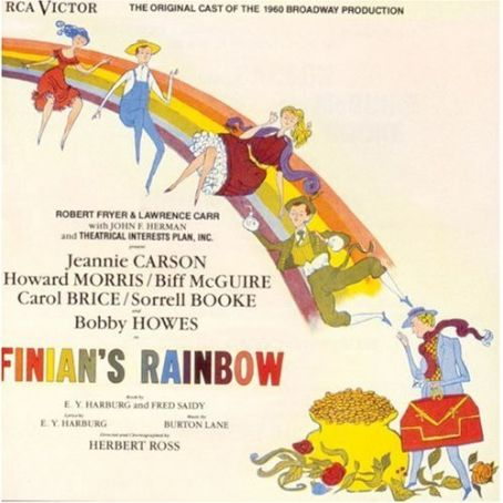 Finian's Rainbow lp jacket of the 1960 revivel cast recording of