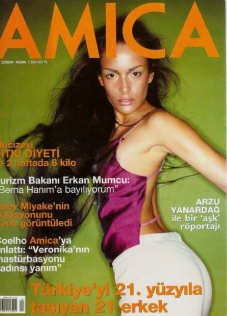 Gamze Özçelik - Amica Magazine Cover [Turkey] (April 2001)
