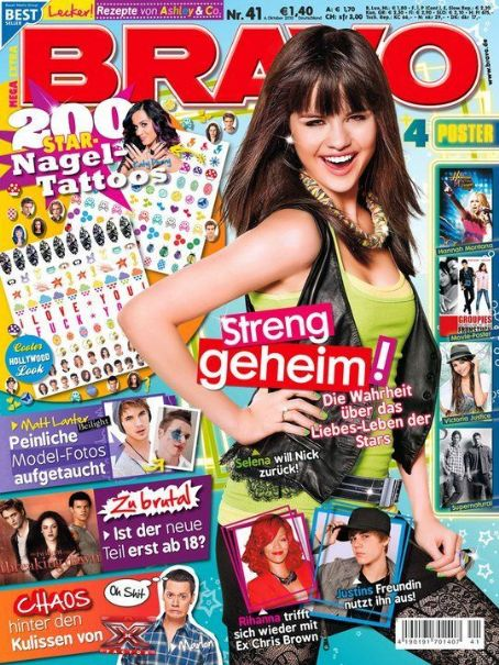 Selena Gomez - Bravo Magazine Cover [Germany] (6 October 2010)