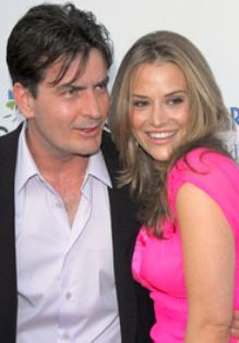 Charlie Sheen and Brooke Allen