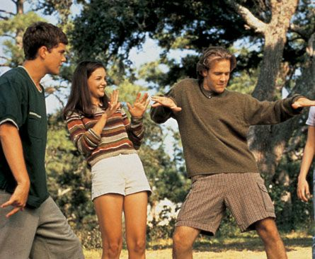 Dawson's Creek Katie Holmes, Joshua Jackson And James Van Der Beek In Dawson's Creek (1998)