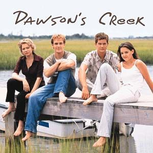 Dawson's Creek Joshua Jackson, Katie Holmes, James Van Der Beek And Michelle Willians In Dawson's Creek (1998)