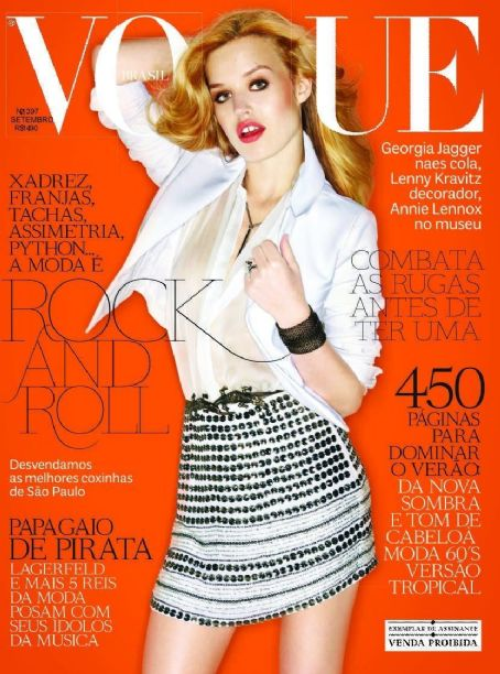 Georgia May Jagger - Vogue Magazine Cover [Brazil] (September 2011)