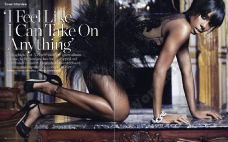 Kelly Rowland Marie Claire UK January 2012