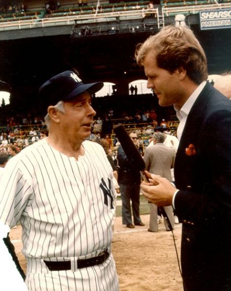 Chet Coppock With Joe DiMaggio