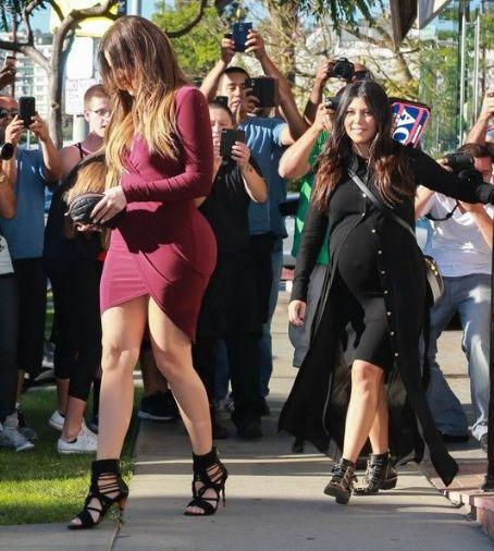 Kourtney Kardashian: film scenes for 'Keeping Up With The Kardashians' in West Hollywood