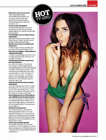 Layla Anna-Lee Layla Anna Lee Fhm South Africa May 2013