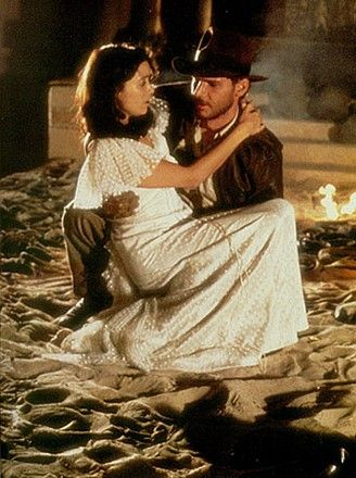 Marion Ravenwood Harrison Ford and Karen Allen in Raiders of the Lost Ark (1981)
