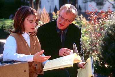 State and Main Rebecca Pidgeon and Philip Seymour Hoffman in Fine Line's  - 2000
