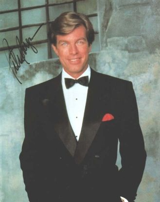 Peter Bergman  autographed photo, black tie