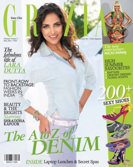Lara Dutta - Grazia Magazine Cover [India] (May 2011)
