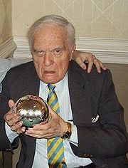 Angus Scrimm  in Recent Photo Holding Famous Silver Sphere from Phantasm Movie
