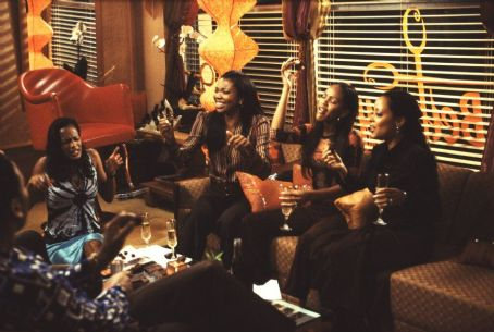 Deliver Us from Eva Robinne Lee (far left), Gabrielle Union (left), Meagan Good (right) and Essence Atkins (far right) in Focus' Deliver Us From Eva - 2003