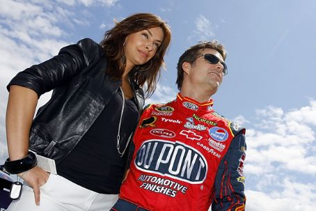 Jeff Gordon and Ingrid Vandebosch Photograph
