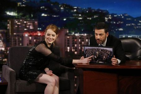 Emma Stone At The Jimmy Kimmel Live! (February 2017)