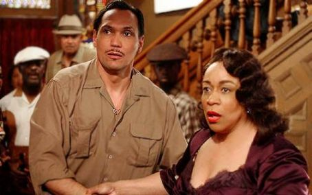 S. Epatha Merkerson Jimmy Smits as 'Ruben Santiago Sr.' and  as 'Rachel 'Nanny' Crosby' in Lackawanna Blues