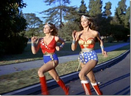 Debra Winger & Lynda Carter in The New Adventures of Wonder Woman (1975)