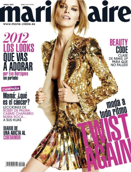 Eva Herzigova - Marie Claire Magazine Cover [Spain] (January 2012)