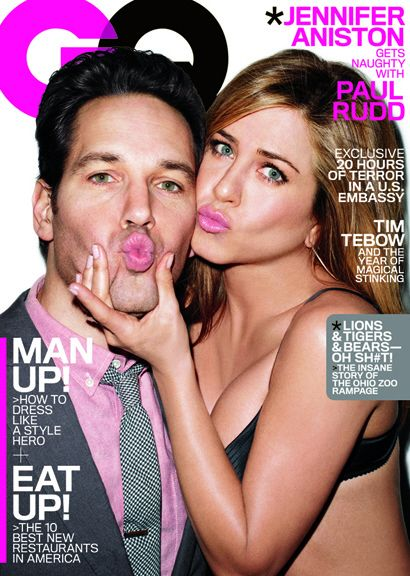 Paul Rudd, Jennifer Aniston - GQ Magazine Cover [United States] (March 2012)
