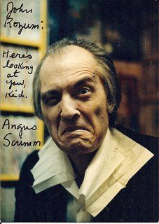 Angus Scrimm  autograph photo