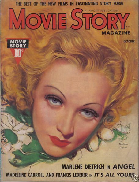 Marlene Dietrich - Movie Story Magazine [United States] (October 1937)