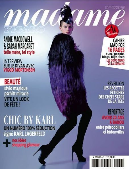 Saskia De Brauw - Madame Figaro Magazine Cover [France] (December 2011)