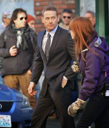 Max Martini  on the Fifty Shades of Grey set